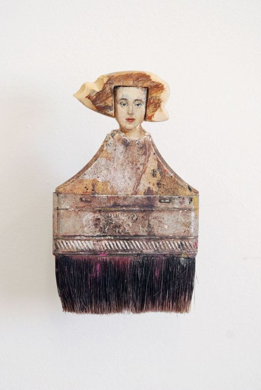 Old Paintbrushes Turned Into Artistic Ladies
