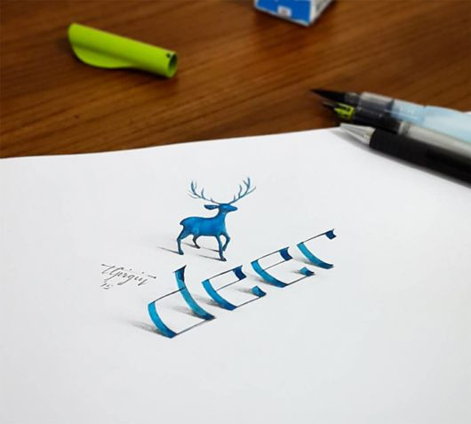 Talented Electrical Engineer Creates 3D Calligraphy That Leaps Off The Page