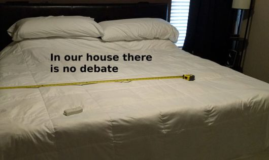 Frustrated Husband Tired Of Fighting For His Bed Side, Finds A Genius Solution