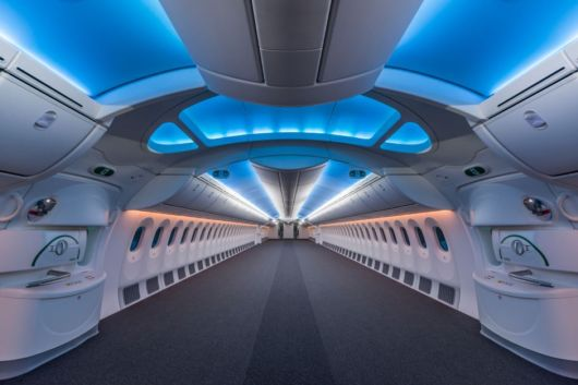 Amazing View Inside Of An Empty Boeing 787 Passenger Plane