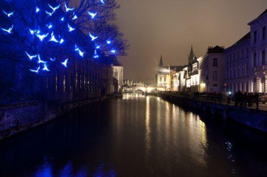 Beautiful Light Festival In Belgium