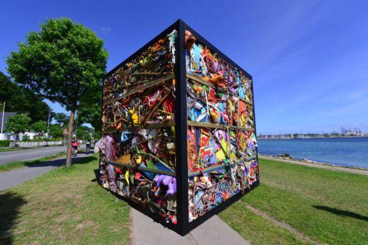 Entire Amusement Park Crushed Into A Cube