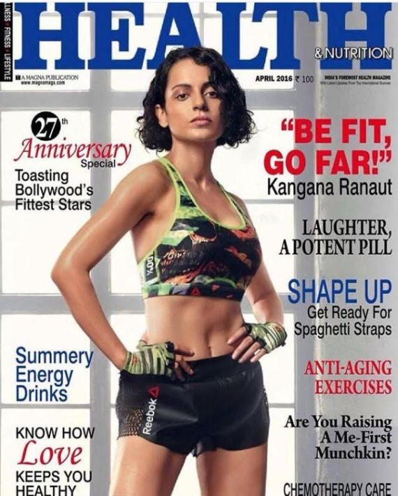 Kangana Ranaut On Cover Of Health And Nutrition Magazine