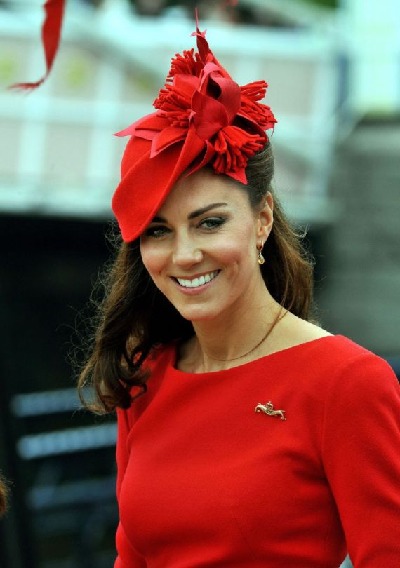 Smiling Kate Middleton At The Thames Diamond Jubilee Pageant