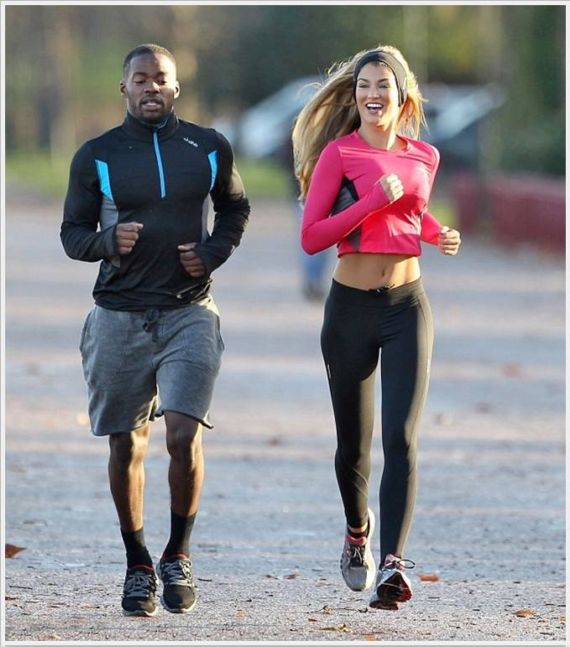 Amy Willerton Working Out in London Park