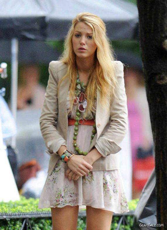 Lovely Blake Lively Cool Street Candids