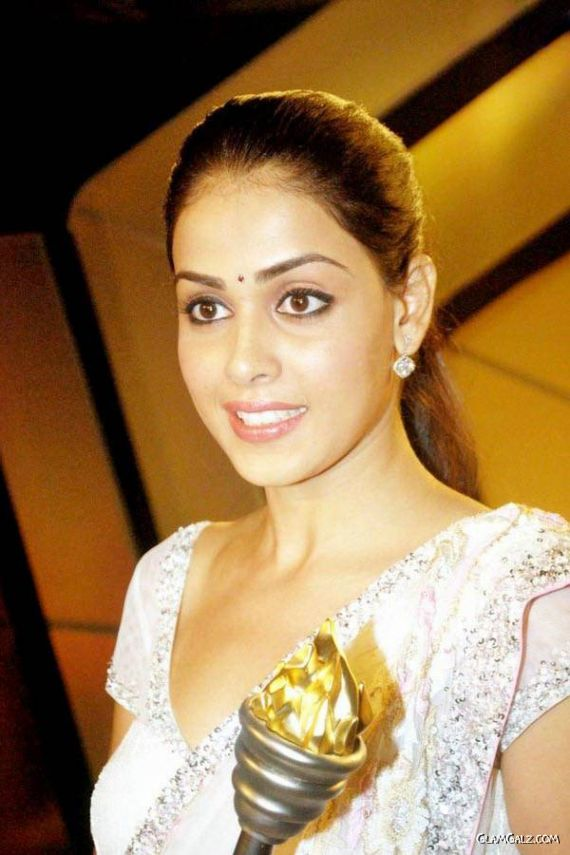 Genelia in White Saree