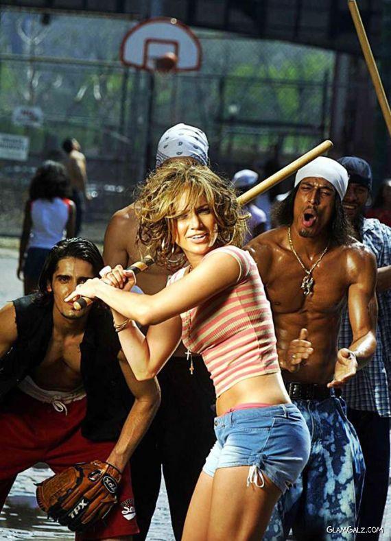 Jennifer Lopez Playing Baseball