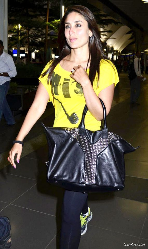 Kareena spotted At The International Airport