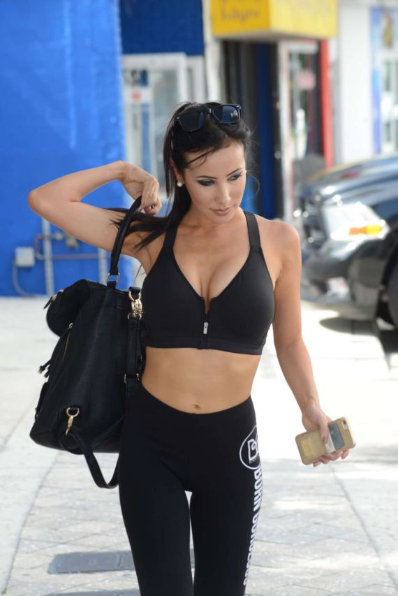 Lisa Opie Leaving A Gym In Miami
