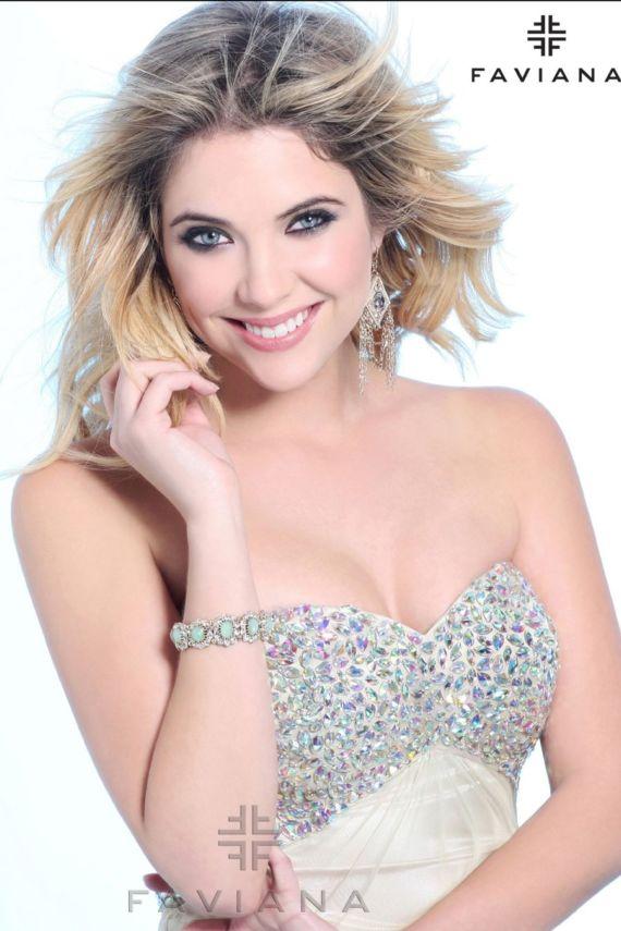 Truly Beautiful Ashley Benson Poses For Faviana