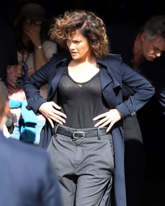 Jennifer Lopez Again Seen On Shades Of Blue Set