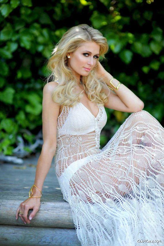 Awesome Paris Hilton Shoots In The Garden