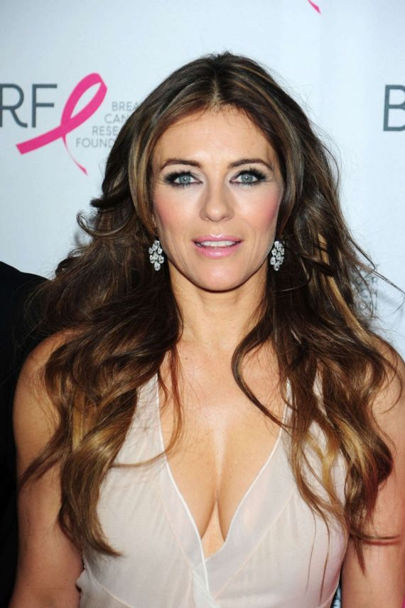 Elizabeth Hurley At Cancer Research Foundation Party