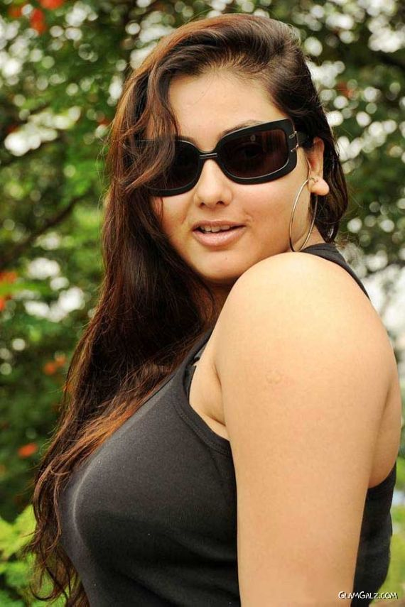 Namitha In Black For Sukra Movie Launch