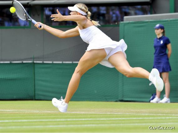 Maria Sharapova Tennis Court Action Shots