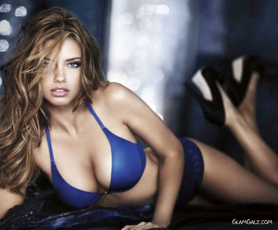 Adriana Lima on a Victoria's Secret Holiday