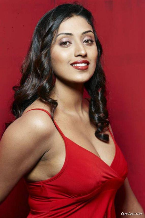 Spicy Megha Nair Posing In Red