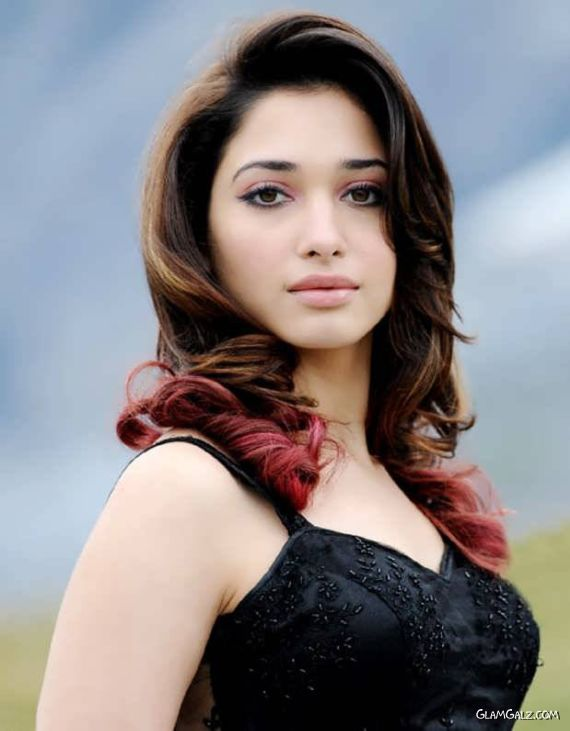 Beautiful Tamanna Bhatia In Black Dress