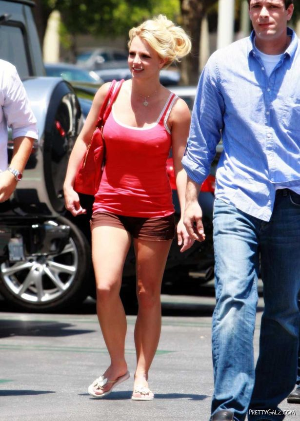 Britney in Denim Shorts