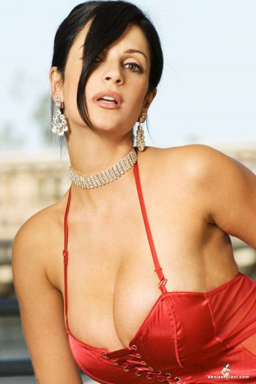 Denise Milani In Her Red Photoshoot