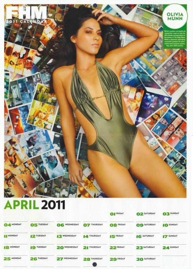 Exclusive FHM Beauties Calendar 2011