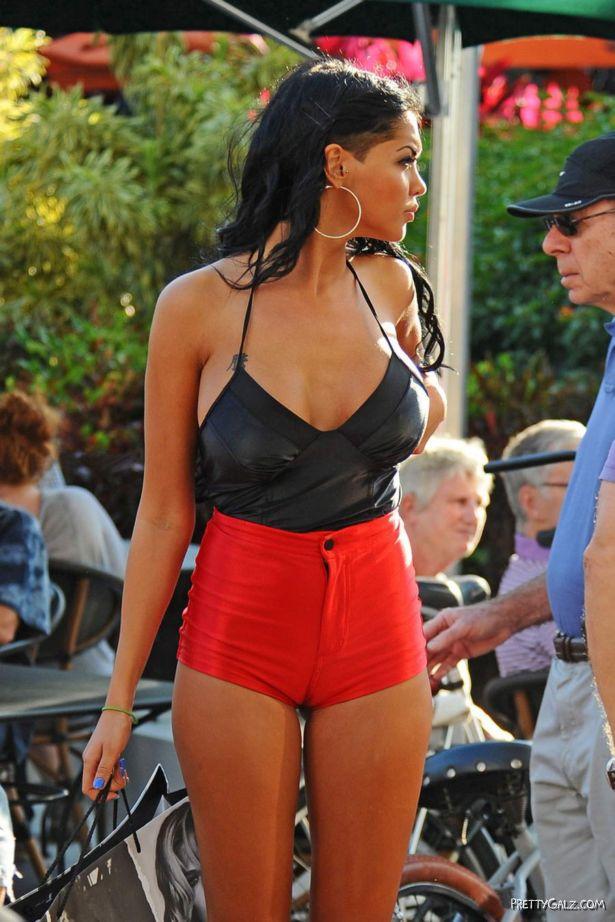 Nabilla Benattia At The Miami Beach