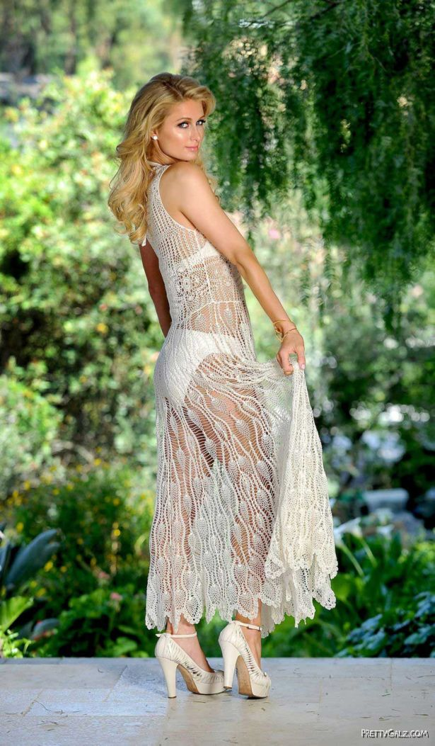 Awesome Paris Hilton Shoots In The Garden