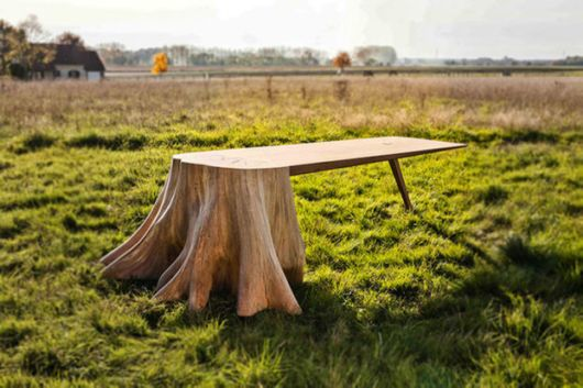 Beautifully Designed Natural Tree Stump Table