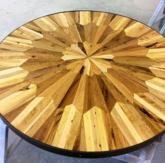 Stunning Quilt Inspired Tables Out Of Salvaged Wood